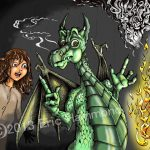 Girl and Dragon - Housebreaking Dragon