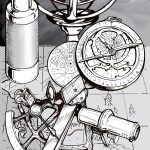 Nautical Devices - Pen&Ink/Digital. / Commissioned piece for Dungeon Mapper, LLC. Used by permission.