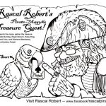 Rascal Pirate - Coloring sheet/maze for a ren faire client