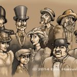 Victorian Characters - Intrigue at Sepia Harbor